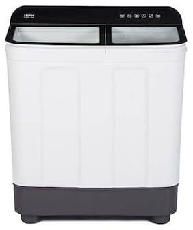 Haier 7 Kg Semi automatic top load Washing machine - HTW70-178BK , Black & White