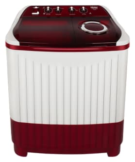 Haier 8 Kg Semi automatic top load Washing machine - HTW80-185BR , White & Red