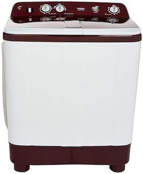 Haier 8 Kg Semi automatic top load Washing machine - HTW-80-1128BT , Maroon & White