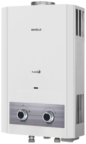 HAVELLS FLAGRO 6LTR GAS WATER HEATER WHITE