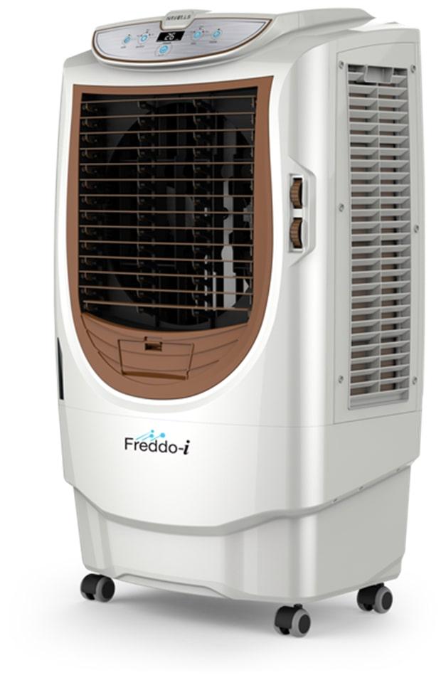 Havells Freddo-I 70 Litres Desert Air Cooler with Remote (White & Brown)