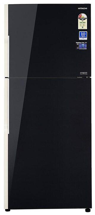 Hitachi Frost Free 451 L Double Door Refrigerator (R-VG470PND3- (GBK), Glass Black)