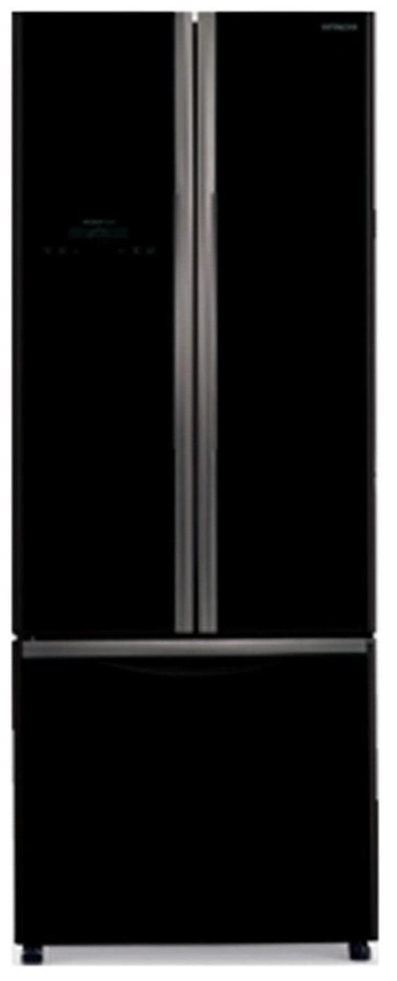 Hitachi 456 L Frost Free Triple Door 5 Star Refrigerator (RWB480PND2, Glass Black)