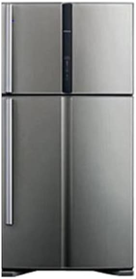 Hitachi Frost Free 601 L Double Door Refrigerator (RVG660PND3, Grey)