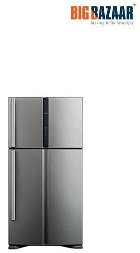 Hitachi Frost Free 601 L Double Door Refrigerator ( Rvg660pnd3 , Grey )