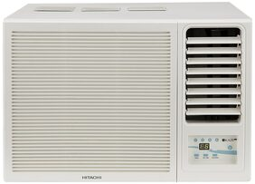 Hitachi 1 Ton 3 Star Window AC (RAW312KWD, White) with Copper Condenser