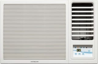 Hitachi 1 Ton 5 Star Window AC (RAW511KUD, White) with Copper Condenser