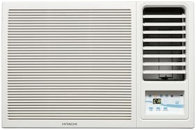 Hitachi 1.5 Ton 5 Star Window AC (RAW518KUDZ1, White) with Copper Condenser