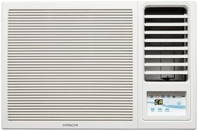 Hitachi 1 Ton 5 Star Window AC (RAW511KUD, White) with Copper Condenser