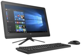 HP All-in-One - 20-c416il (Intel Celeron/4GB RAM/1TB HDD 7200RPM/19.5'' (49.53 cm) LED/DVD-Writer/DOS) (Black)