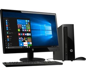 HP 290-a0009il Desktop (Pentium Quad Core/4GB RAM/1TB HDD/49.53 cm (19.5) Monitor/DVD-Writer/HP USB Wired Black Keyboard Mouse/DOS/Wifi and Bluetooth 4.2) (Black)