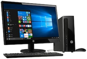 HP Desktop 290-p0057il (Core i3 (8th Gen)/4GB RAM/1TB HDD/49.53 cm (19.5) Monitor/HP USB Wired Keyboard Mouse/DVD RW/DOS/Wifi+BT) (Black)