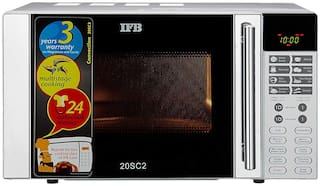 IFB 20 ltr Convection Microwave Oven - 20SC2 , Metallic silver