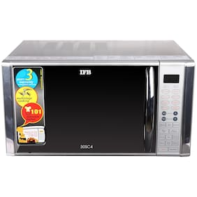IFB 30 ltr Convection Microwave Oven - 30SC4 , Metallic silver