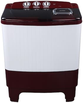 Koryo 6.5 Kg Semi Automatic Top Load Washing Machine (KWM6821SA, White & Brown)