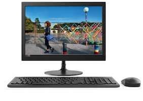 Lenovo Ideacentre 330 All-in-One (Celeron Dual Core J4005/4GB RAM/1TB HDD/19.5'' LED/DVD Writer/DOS) (Black) (F0D7001AIN)
