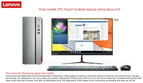 Lenovo Ideacentre 510S (Core i3 - 7th Gen / 4 GB DDR4 / 1 TB HDD / 54.61 cm (21.5 Inch) FHD / DOS) Tower Desktop, 90GB000QIN (Silver)
