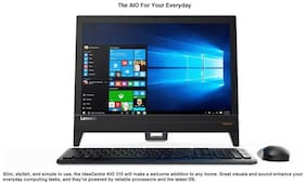 Lenovo Ideacentre 310 (Celeron Dual Core / 4 GB DDR3 / 1 TB HDD / 49.53 cm (19.5 Inch) / DOS) F0CL001GIN All-in-One
