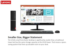 Lenovo V520s Desktop (Core i3 (7th Gen)/4 GB DDR4/1 TB/19.5 Display/Dos) (3 Year Warranty)