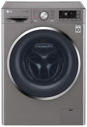 LG 10.5 Kg Fully automatic front load Washing machine - F4J8JSP2S , Silver