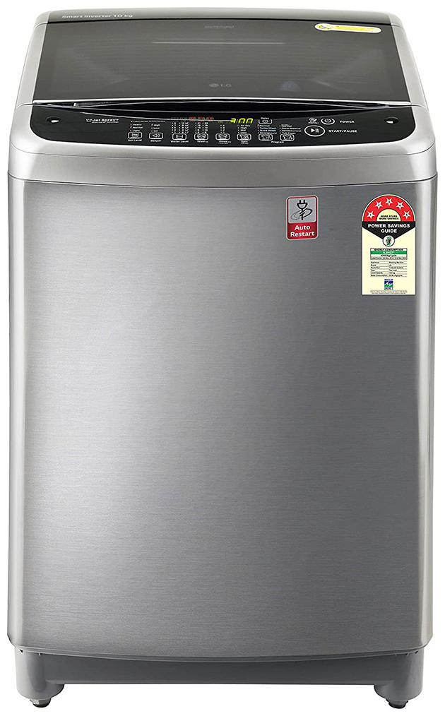 LG 10 kg Fully Automatic Top Load Washing Machine (T10SJSS1Z , Silver...