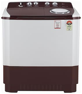 LG 10 kg Semi Automatic Top Load Washer with dryer - P1040SRAZ , Burgundy