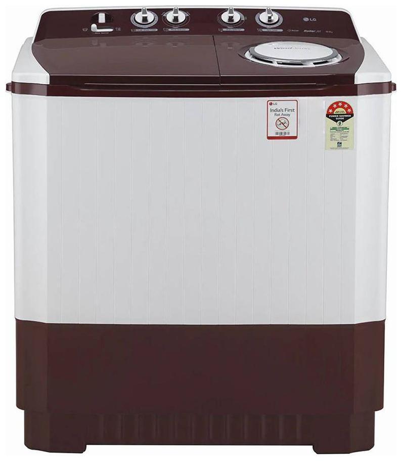LG 10 kg Semi Automatic Top Load Washing Machine (P1040SRAZ , White;Maroon)