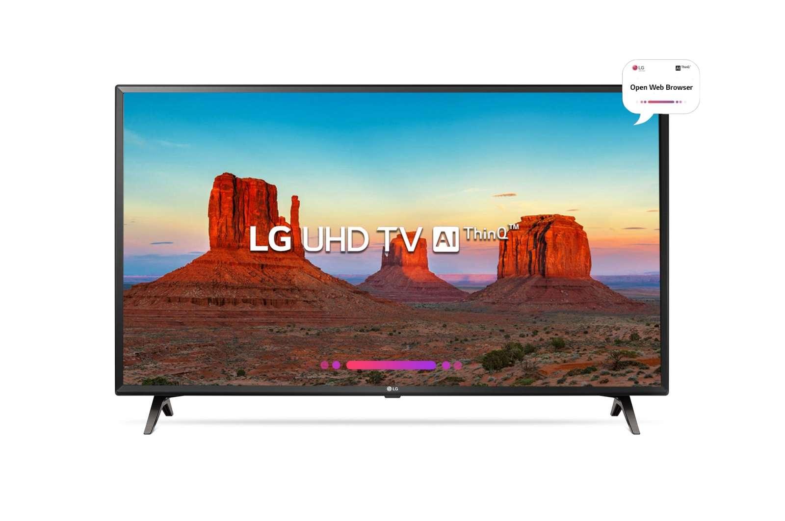 LG 43 Inches Ultra HD (4K) LED Smart TV (43UK6360PTE, Black)