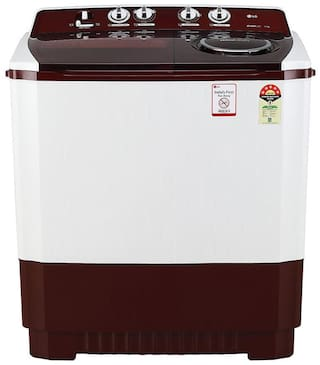 LG 11 Kg Semi automatic top load Washing machine - P1145SRAZ , Burgundy