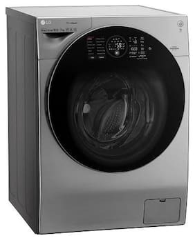LG 12 Kg Fully automatic front load Washing machine - FH6G1BCHK6N + F8K5XNK4 , Silver