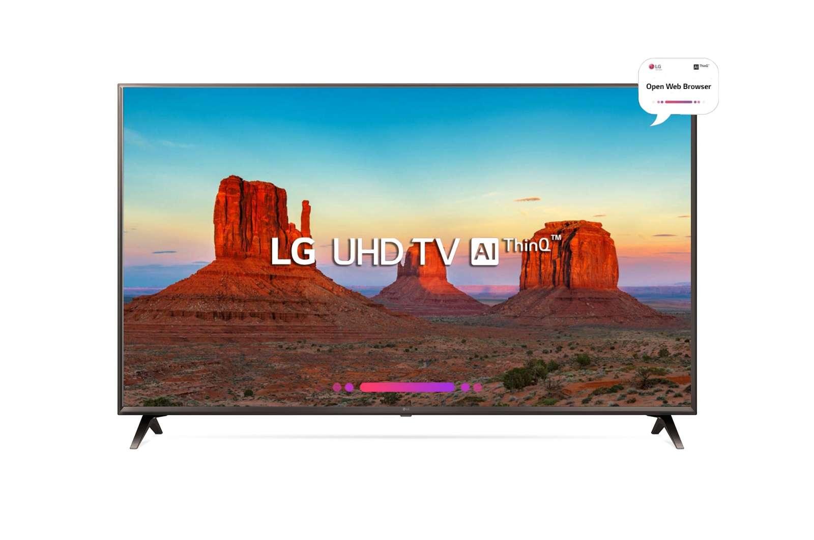 LG 50 Inches Ultra HD (4K) LED Smart TV (50UK6560PTC, Black)