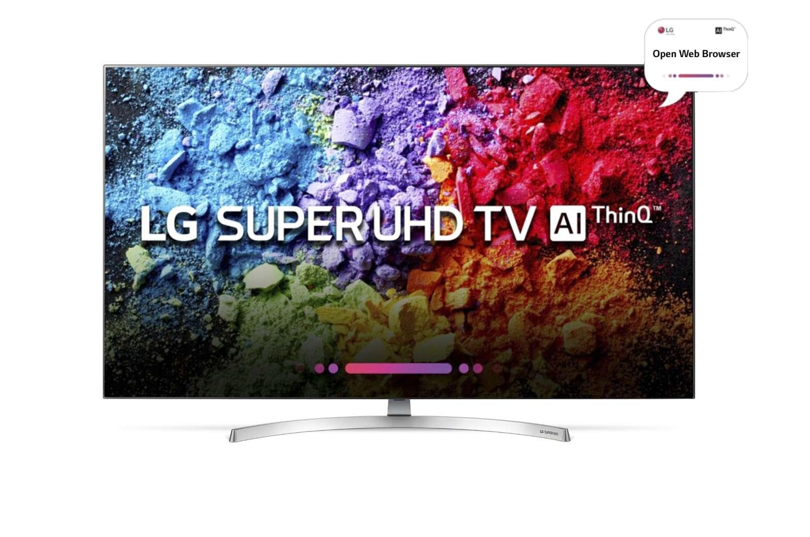LG 55 Inches Ultra HD (4K) LED Smart TV (55SK8500PTA, Grey)