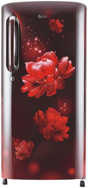LG 190 L 4 star Direct cool Refrigerator - GL-B201ASCY , Scarlet charm