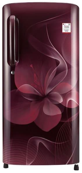 LG 190 ltr 4 star Direct cool Refrigerator - GL-B201ASPX , Scarlet plumeria
