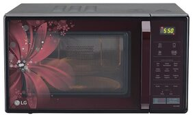 LG 21 L Convection Microwave Oven ( Mc2146brt , Black And Maroon )