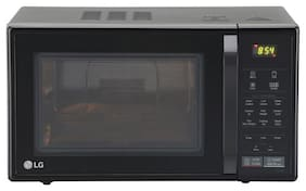 LG 21 ltr Convection Microwave Oven - MC2146BG , Glossy black