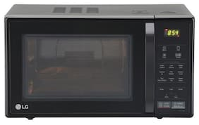 LG 21 ltr Convection Microwave Oven - MC2146BG , Glossy black