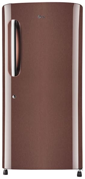 LG 215 L 5 star Direct cool Refrigerator - GL-B221AASY , Amber steel
