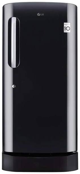 LG 215 L 5 star Direct cool Refrigerator - GL-D221AESZ , Ebony sheen