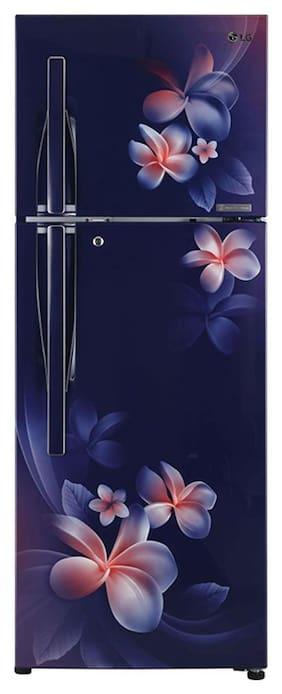 LG 260 L 4 star Linear cooling Refrigerator - GL-T292RBPN , Blue plumeria