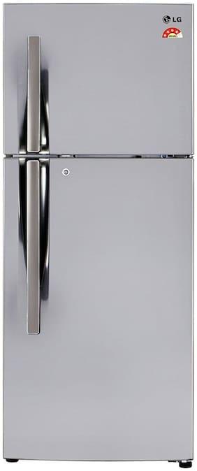 LG Frost Free 260 L Double Door Refrigerator (GL-I292RPZL, Shiny Steel)
