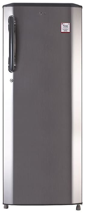 LG Direct Cool 270 L Single Door Refrigerator (GL-B281BPZX, Shiny Steel)