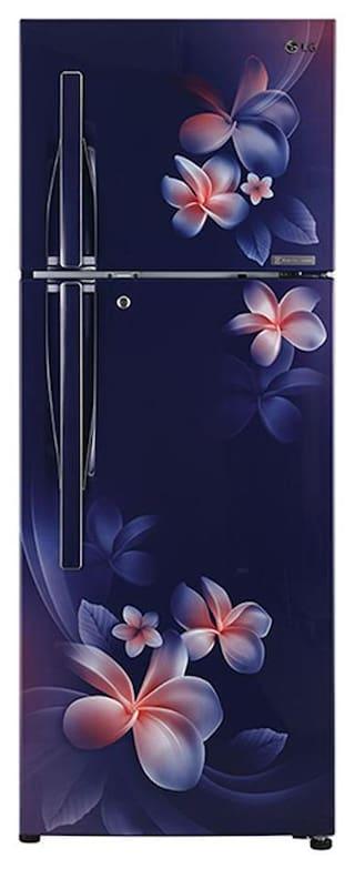 LG 284 L 4 star Frost free Refrigerator - GL-T302RBPN , Blue plumeria