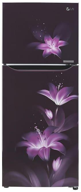LG 260 L 3 star Frost free Refrigerator - GL-T292SPG3 , Purple glow
