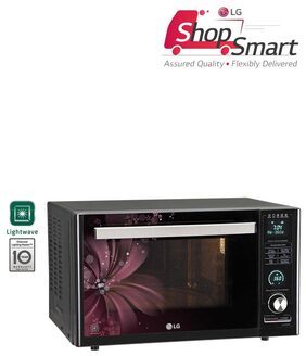 LG 32 L Convection Microwave Oven (MJ3286BRUS, Black & Maroon)