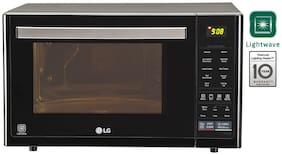LG 32 ltr Convection Microwave Oven - MJ3296BFT , Black