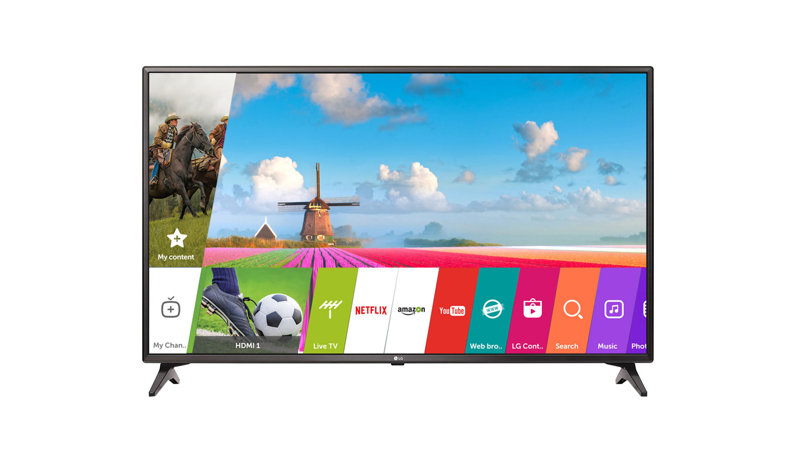 LG 43 Inches Full HD LED Smart TV (43LJ554T, Black)
