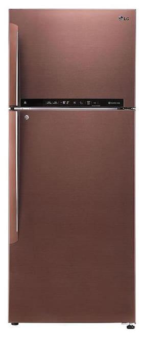 LG 445 L 4 star Linear cooling Refrigerator - GL-T432FASN , Amber steel