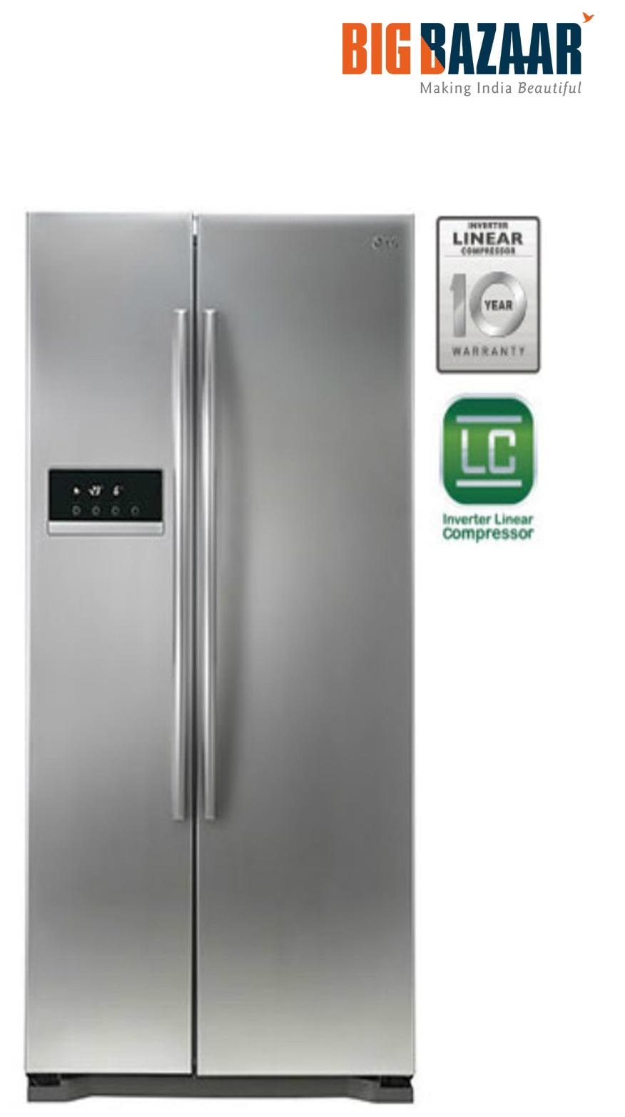 LG GC B207GLQV 581Ltr Side By Side Refrigerator