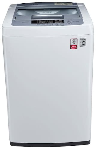 LG 6.2 Kg Fully automatic top load Washing machine - T7269NDDL , White & Silver